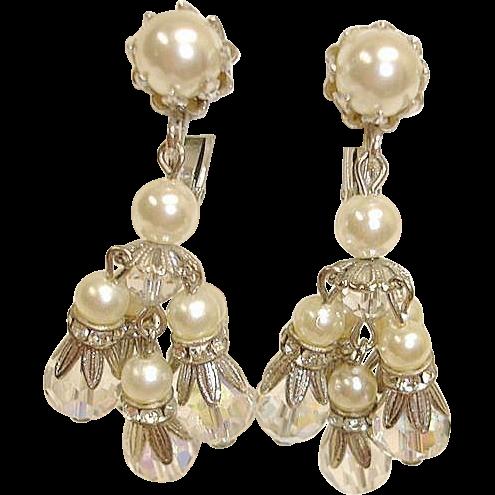 Vendome dangle drop earrings vintage chandelier earrings by vendome dangle drop earrings vintage chandelier earrings by vendome jewelry mozeypictures Choice Image