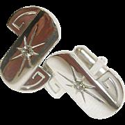 Rhinestone Cufflinks - Vintage Cuff Links
