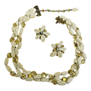 Hobe Necklace and Earrings Set - Hobe Vintage Demi Parure Jewelry