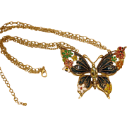Estate Butterfly Necklace