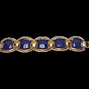Estate NAPIER Chunky Blue Link Bracelet - Vintage Napier Jewelry