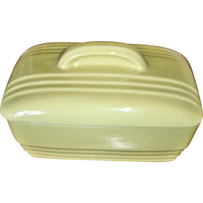 HALL Westinghouse Canary Yellow Rectangular Baker with Lid
