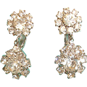 Vintage Sparkling Rhinestone Drop Dangle Earrings