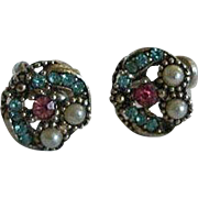 Vintage Rhinestone Earrings -