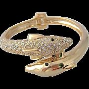 Vintage Dolphin Clamper Style Bracelet