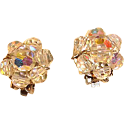 Vintage Aurora Borealis Earrings - Clip On earrings