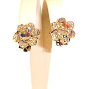 Vintage Aurora Borealis Earrings - Clip On earrings