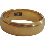14k Yellow Gold Band Ring - Estate Gold Ring