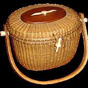Vintage Nantucket Lightship Basket Purse Handbag