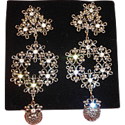 Jose Maria Barrera for Avon EARRINGS - Imperial Elegance Clip On Earrings - Vintage Barrera Chandelier Earrings
