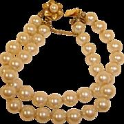 Vintage Miriam Haskell Glass Pearl Bracelet