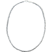 "Estate Sterling Silver Navajo Pearls 24"" Long"
