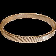 Silver Tone Swirl Texture Bangle Bracelet - Vintage Bangle Bracelet