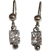 Estate Petite Dangle Pierced Earrings
