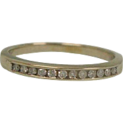 Estate Diamond Band Ring – Size 6 USA Eternity Band - Art Deco 14K White Gold Diamond Wedding -