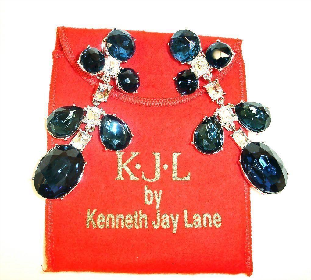 Vintage Kjl Shoulder Duster Earrings Kenneth Jay Lane