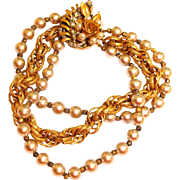 Estate Miriam Haskell Bracelet – Vintage Glass Pearl and Seed Bead Pearl Bracelet