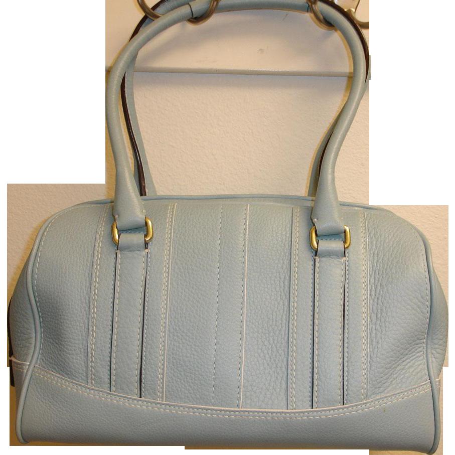 RETIRED Genuine COACH 10526 Handbag Purse – Blue Leather Satchel by Coach