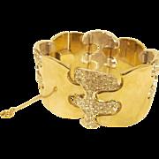 Vintage Wide ART DECO Rhinestone Bracelet