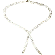 Vintage 3 Row Rhinestone Necklace
