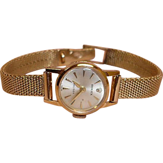 ROLEX Ladies Watch - Precision Crown - 14K Gold Woman's Watch - Not Running