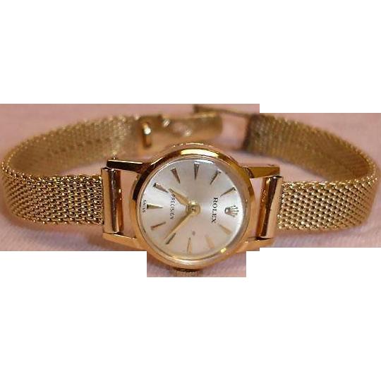 ROLEX Ladies Watch - Precision Crown - 14K Gold Woman's Watch - Not Running
