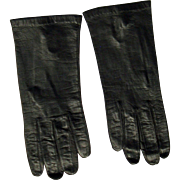 Vintage Black Capeskin Gloves - Imported from ITALY - Size 7-1/2