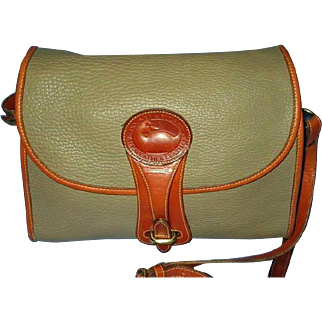 Vintage Dooney Bourke Leather Crossbody or Shoulder Handbag - 1980 Essex Collection Handbag