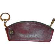 Vintage Etienne Aigner Burgundy Leather Key Case - Money Carrier