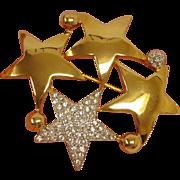 Butler Wilson Vintage Stars Brooch / Pin