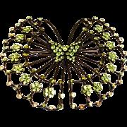 Vintage B&W Signed Brooch - Butler & Wilson Butterfly Rhinestones Brooch