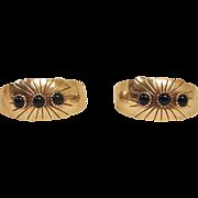 Vintage Navajo Earrings - NAKAI Native American Sterling Silver and ONYX Earrings