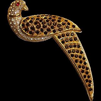 Vintage  BUTLER & WILSON Couture Brooch / Pin – B&W Pave Rhinestone Bird Brooch