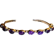 Older NAKAI Amethyst and Sterling Silver Bracelet – Vintage Native American Bracelet