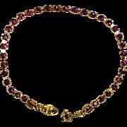Vintage AVON Purple - Amethyst Color Rhinestone Tennis Bracelet