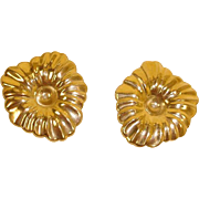 Vintage 14K Yellow Gold Earring Jackets