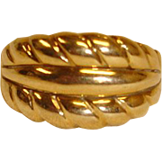 14K Wide Domed Gold Ring -  Made in Italy -  6-3/4