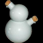 Vintage Rosenthal China Vinegar and Oil Server - Storage Bottle - Germany China - THOMAS Trend White Pattern