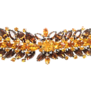 Vintage VENDOME Striking Marquise Rhinestone Bracelet