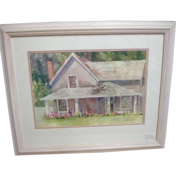 Limited Hand Signed Watercolor Print - His Sister's House - by Judy Buswell