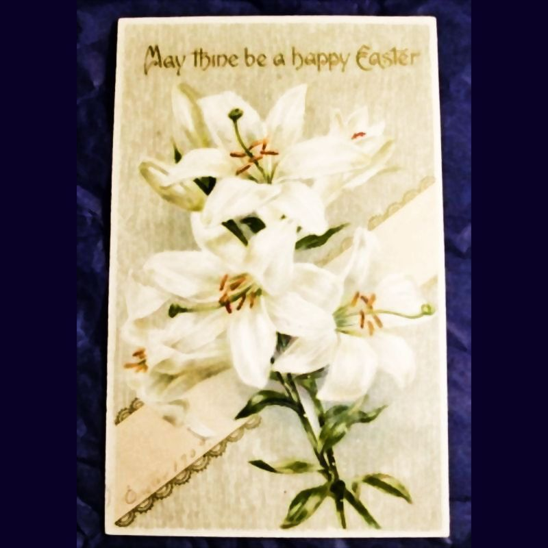 Antique Embossed Easter Postcard