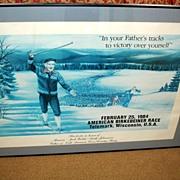 1984 Framed American Berkebeiner Race Cross Country Skiing Poster - Vintage BIRKIE Print