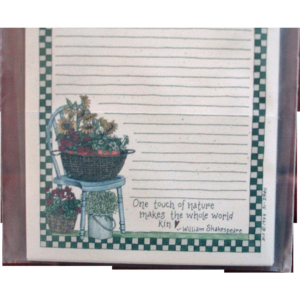 Artist Deb Strain - UNUSED Card Stock - Recipe Cards Saltbox Creations