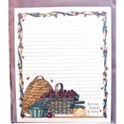 Artist Deb Strain - Retired UNUSED Card Stock - Recipe Cards Saltbox Creations