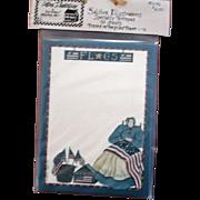Artist Deb Strain - Retired UNUSED Card Stock - Flags - Notepad