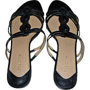 Vintage Liz Claiborne Slip On Low Heel Sandals