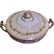 Noritake China Covered Vegetable Bowl / Tureen - Olympia Pattern