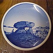 "Vintage Royal Copenhagen MINI Plate -  Kaempehoj Porcelain Salt Plate 3-1/4"""