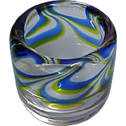 Vintage KOSTA BODA  Art Glass Vessel /  Small Vase - Designer Goran Warff