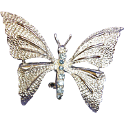 Vintage GERRY'S Butterfly with Blue Rhinestones